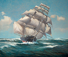 marine art nautical paintings yves berubeflying cloud tea clipper